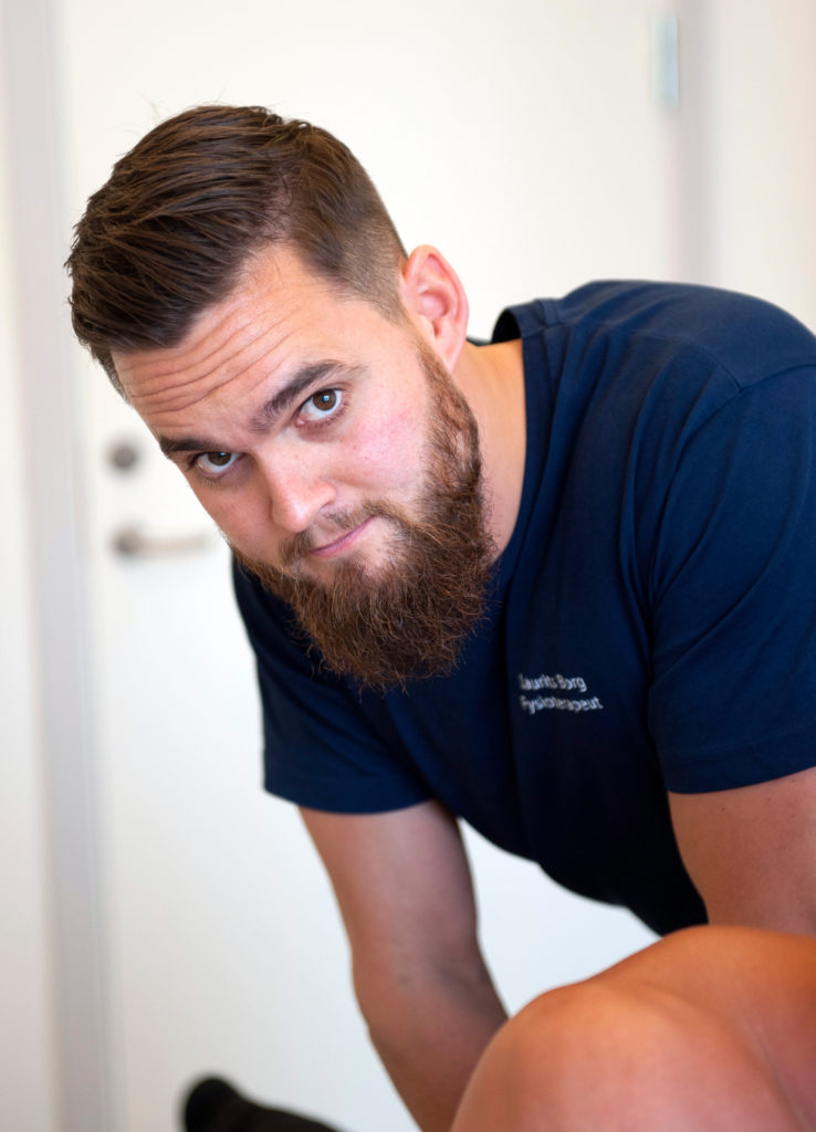 Profilside Laurits Borg Fysioterapeut shockwave behandler akupunktør samt indlæg og såler