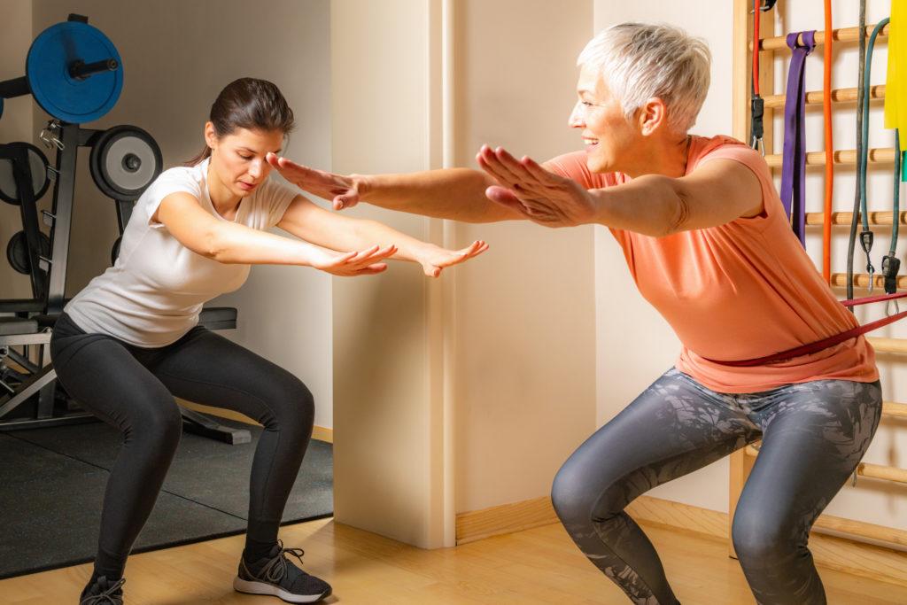 Træning af knæ på Amager