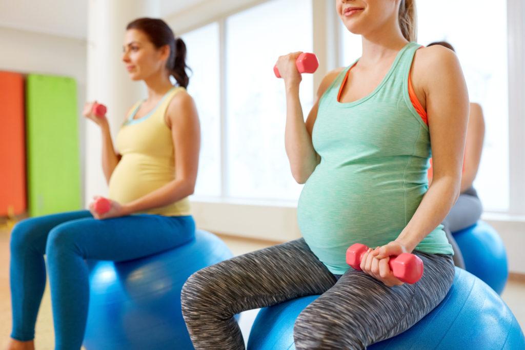 Træning for gravide på Amager